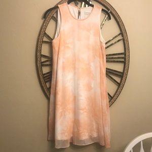 Calvin Klein Size 4 pastel flower dress